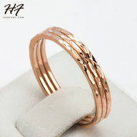Concise Three Rounds Finger Rings for Women