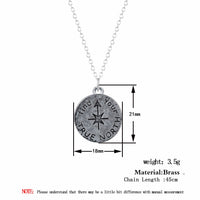 Vintage Find Your True North Pendant Necklace for Women