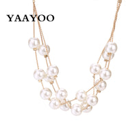 Multilayer Simulated-pearl Jewelry Set  for Women