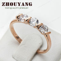 Concise Austrian Crystal Rose Gold Ring  (R067 R068)