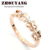 Austrian Crystals Butterfly Shape Rings for Women