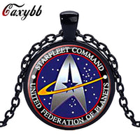 Star Trek Glass Pendant Necklace for Women