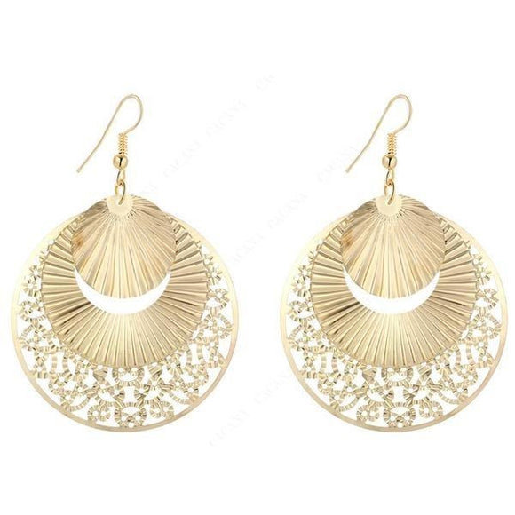 Women's Fashion Hub Stylish Dangle Gold Earrings