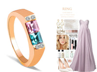 Cubic Zirconia Color Gold Wedding Rings for Women (R148)