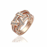 Rose Gold Color Rhinestones Austrian Crystal Ring for Women