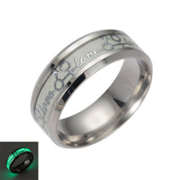 Glow In the Dark Wedding Ring for Men Women