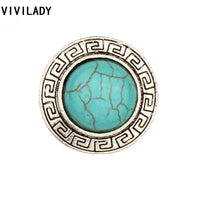Classic Round Natural Blue Stones Finger Rings for Women (Adjustable)