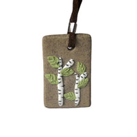 Handmade Apple Tree Pattern Ceramic Pendant Necklace for Women