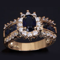 Trendy Blue Crystal Engagement Ring ( 6,7,8,9,10,11,12)