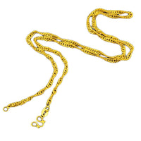 Exquisite Lightning Golden Wave Short Necklace