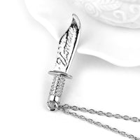 Knife Shape Alloy Pendants Necklace for Women