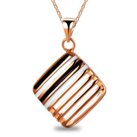 Hollow Fashion Crystal Square Pendant Necklace for women
