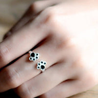 silver cat claw handmade animal ring (Adjustable)