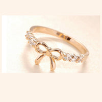 Imitation Bowknot Ring for Women