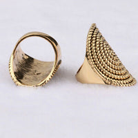 Vintage Punk Ancient Gold Plating Midi Rotating Decorative Ring for Women