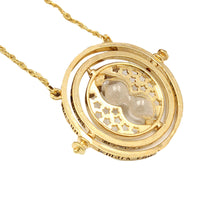 Alloy Time Turner Rotating Hourglass Pendant Necklace Femme High Quality Fashion Wedding Ring Jewelry Gifts For Women