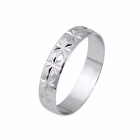 Silver Plated Love Flower Ring For Women