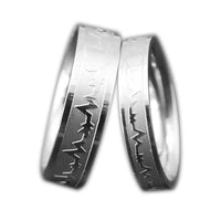 Alloy ECG Love Ring for Men And Women