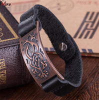 Handmade Punk Wide Cuff Bracelets For Men