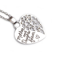 """Mother and Daughter Forever"" Heart Pendant Necklace for Women"