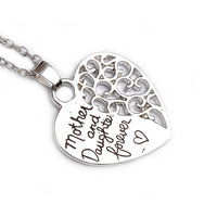 """Mother and Daughter Forever"" Heart Pendant Necklace for Women - sparklingselections"