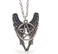 Vintage Forces Of Evil Pentagram Wings Unisex Pendant Necklace