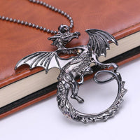 """A Song of Ice and Fire"" Targaryen Dragon Pendant Necklace"