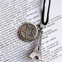 Eiffel Tower Beer Cap Shape Alloy Pendant Necklace for Women