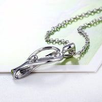 Silver Plated Mother child Pendant Necklace