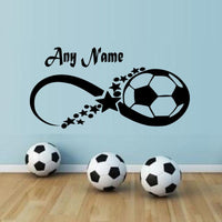 New Bedroom Football Any Name Wall Stickers - sparklingselections