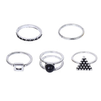 Vintage Ethnic Bohemian 5 Pcs set Rings for Women (R1177)