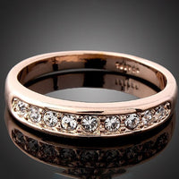 Classic Rose Rhinestone Wedding Ring for Women (368080)