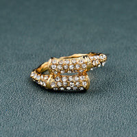 Gold Color Austrian Crystal Rings For Women (SRI150008)