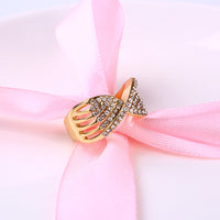 Bow-Knot Crystal Promise Ring for Women (RI0065)