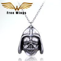 Zinc Alloy Wings Darth Link Chain Necklace For Men (2D38)