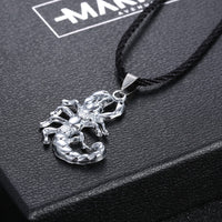 Stainless Steel Gothic Scorpion Pendant Necklace for Men