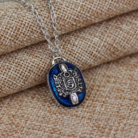 Blue Stone Pendant Necklace for Women