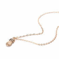 Pineapple Cute Fruit Charm Gold Plate Long Chain Necklaces for Women