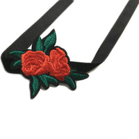 Trendy Embroidered Rose Flower Chokers Necklaces for Women (NL2111)
