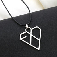 EXO Heart Shape Alloy Pendant Necklace for Women