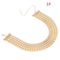 Geometric V Buckle Neck Chain Retro Necklace for Women (D02520)