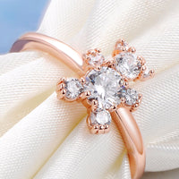 Shiny Rose Gold Austrian Crystal Zircon for Women