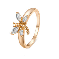 Zircon Dragonfly Jewelry Ring for Women