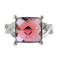 Big Square Crystal Stone Zircon Ring for Women