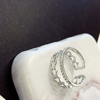 Vintage CZ rhinestone Double layer Ring for Women