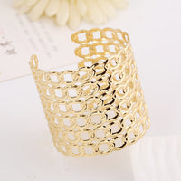 Punk Style Gold Hollow Cuff Bangle Bracelet for Women