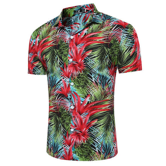new Summer Hawaiian Beach Shirt  for Men size mlxl