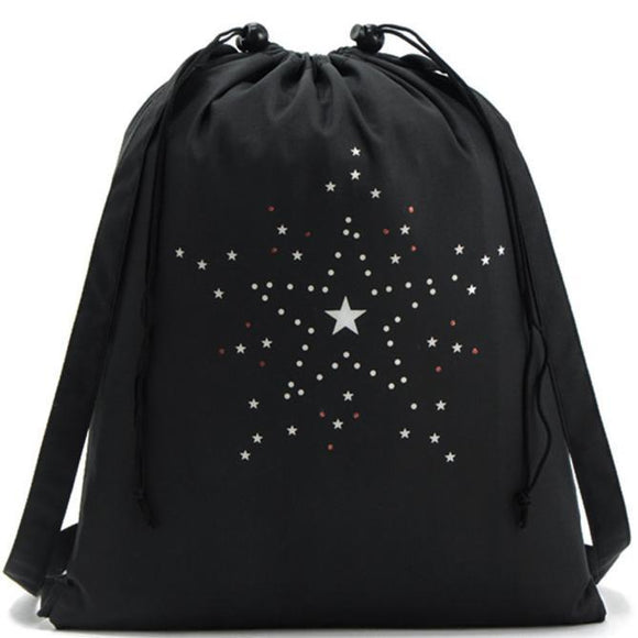 new star printed Storage Backpack for women