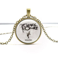 The Black Parade Album Art Picture Glass Gem  Pendant Necklace for Men