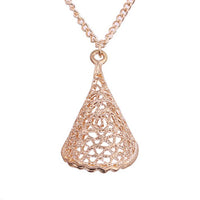 Gold-color Hollow Magic Cloak Alloy Pendant Necklace for Women